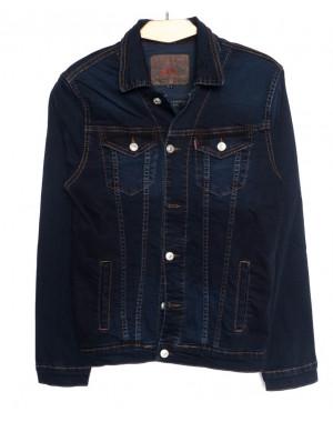 0008-H Deli куртка джинсовая мужская синяя осенняя стрейчевые (S-2XL,5 ед.)