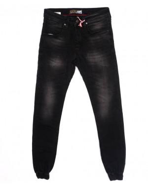 5059 Denim джинсы мужские с царапками на резинке темно-серые осенние стрейчевые (29-36, 8 ед.)