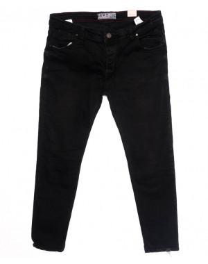 5918 Denim джинсы мужские батальные с царапками черные осенние стрейчевые (32-40, 8 ед.)