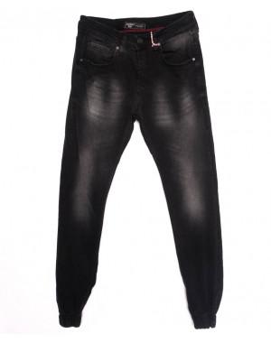 5057 Denim джинсы мужские с царапками на резинке темно-серые осенние стрейчевые (29-36, 8 ед.)