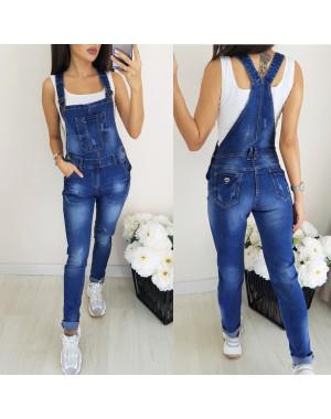 0304-2 Relucky комбинезон-джинсы женский с царапками стрейч-котон (25-30, 6 ед.)