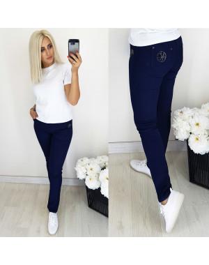 5058 Easy cool джинсы женские батальные темно-синие осенние стрейчевые (31-38, 6 ед.)