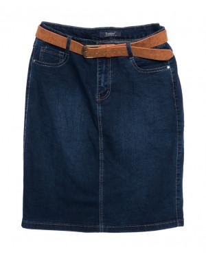 3217 Sunbird юбка джинсовая батальная синяя осенняя стрейчевая (29-36, 6/12 ед.)