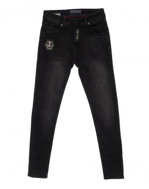 5396 siyah Redman джинсы мужские с царапками темно-серые осенние стрейчевые (29-36, 8 ед.)