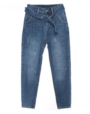 3381 New jeans мом с царапками синий осенний котоновый (25-30, 6 ед.)