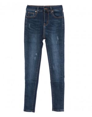 3467 New jeans американка с царапками синяя осенняя стрейчевая (25-30, 6 ед.)