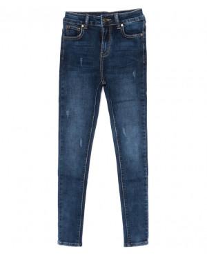 3460 New jeans американка с царапками синяя осенняя стрейчевая (25-30, 6 ед.)