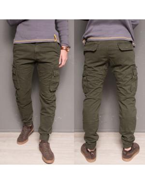 1868-army green Forex брюки мужские молодежные карго на флисе зимние стрейч-котон (28-40, 10 ед.)