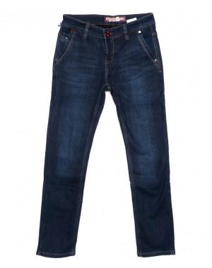 2992 Winning джинсы мужские молодежные синие на флисе зимние стрейчевые (27-34, 8 ед)