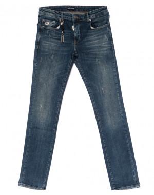 0015-21-007 Antony Morato джинсы мужские полубатальные с царапками осенние стрейчевые (32-38, 7 ед.)
