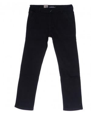 4023-D LS джинсы мужские батальные черные на флисе зимние стрейчевые (34-42, 8 ед)