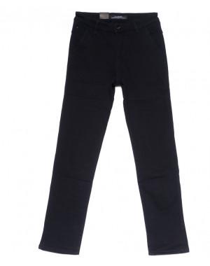 4020-D LS брюки мужские темно-синие на флисе зимние стрейч-котон (29-38, 8 ед)