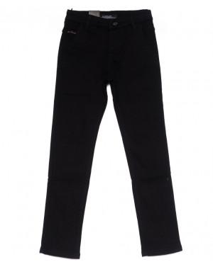 4002-T LS брюки мужские на мальчика черные на флисе зимние стрейч-котон (24-30, 7 ед)