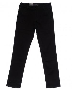 4008 LS брюки мужские темно-синие на флисе зимние стрейч-котон (29-38, 8 ед)