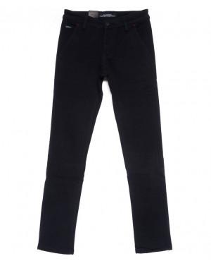 4017-X LS брюки мужские молодежные темно-синие на флисе зимние стрейчевые (27-34, 8 ед.)