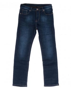 3547 New jeans джинсы мужские синие на флисе зимние стрейчевые (29-38, 8 ед.)
