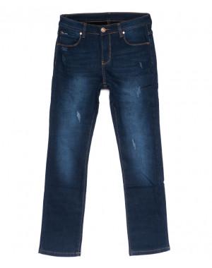 3532 New jeans джинсы мужские с царапками на флисе зимние стрейчевые (29-38, 8 ед.)
