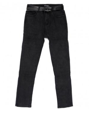 9406 LDM джинсы женские полубатальные серые на флисе зимние стрейчевые (28-33, 6 ед.)