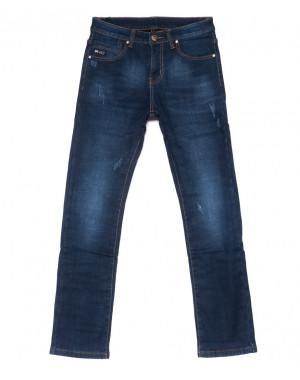 3514 New jeans джинсы мужские молодежные с царапками на флисе зимние стрейчевые (28-36, 8 ед.)