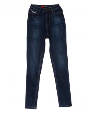 0854-4 Relucky американка синяя на флисе зимняя стрейчевая (25-30, 6 ед)