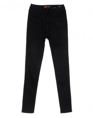 0735-4 Relucky джинсы женские черные на флисе зимние стрейчевые (25-30, 6 ед)