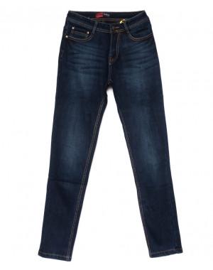 0547-4 Relucky джинсы женские полубатальные синие на флисе зимние стрейчевые (28-33, 6 ед)