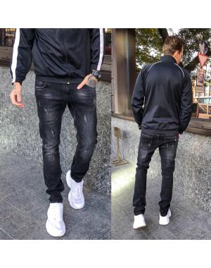 1971 Vingvgs джинсы мужские молодежные серые с царапками осенние стрейчевые (27-34, 8 ед.)