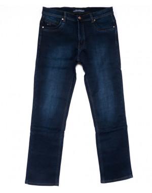 3725 Bagrbo джинсы мужские полубатальные синие на флисе зимние стрейчевые (32-38, 8 ед.)