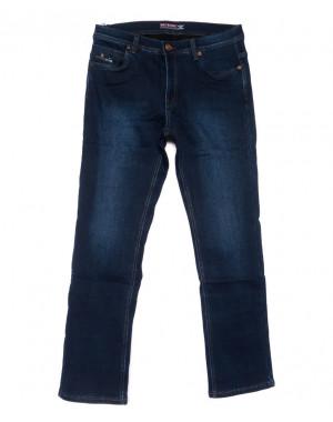 3717 Bigboss джинсы мужские полубатальные синие на флисе зимние стрейчевые (32-38, 8 ед.)