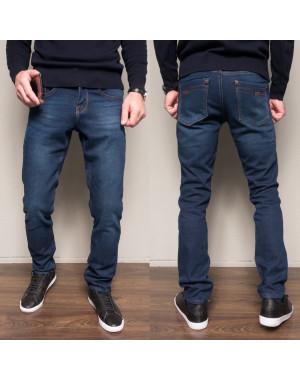 2093 Dsouaviet джинсы мужские синие на флисе зимние стрейчевые (29-38, 8 ед.)