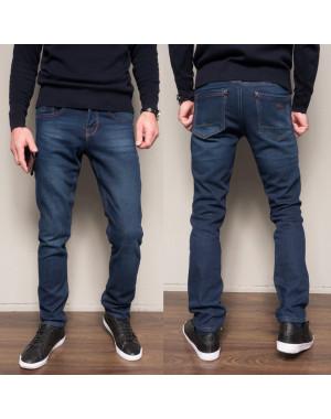 2099 Dsouaviet джинсы мужские синие на флисе зимние стрейчевые (29-38, 8 ед.)