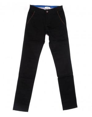 0716-34 New Feerars брюки мужские молодежные черные осенние стрейчевые (28-36, 8 ед.)