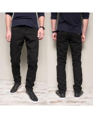5005 Dsouaviet джинсы мужские черные на флисе зимние стрейчевые (29-38, 8 ед.)