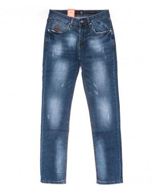 9904-3 R Relucky джинсы мужские с царапками синие весенние стрейчевые (29-38, 8 ед.)