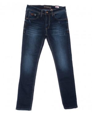 6310 Destry джинсы мужские с царапками синие весенние стрейчевые (29-36, 8 ед.)