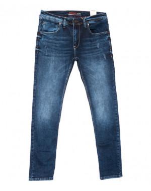 6148 Redcode джинсы мужские с царапками синие весенние стрейчевые (29-36, 8 ед.)