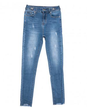 3573 New jeans джинсы женские зауженные синие весенние стрейчевые (25-30, 6 ед.)