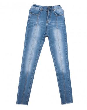 3639 New jeans джинсы женские зауженные синие весенние стрейчевые (25-30, 6 ед.)