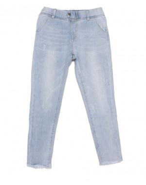 3628 New jeans мом с царапками голубой весенний коттоновый (25-30, 6 ед.)