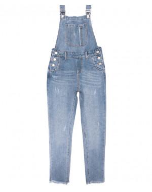 3652 New jeans комбинезон с царапками синий весенний коттоновый (XS-XXL, 6 ед.)