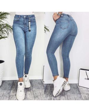 3574 New jeans американка голубая с царапками весенняя стрейчевая (25-30, 6 ед.)
