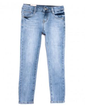 0086 Miss Happy джинсы на девочку синие весенние стрейчевые (23-28, 6 ед.)