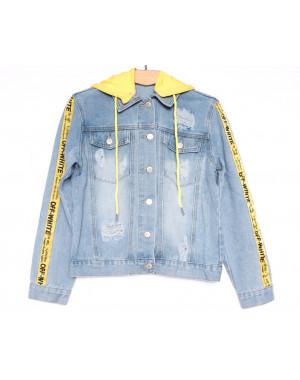 0813 New jeans куртка джинсовая женская синяя весенняя коттоновая (ХS-XXL, 6 ед.)