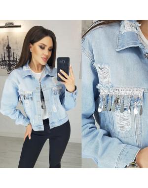 0805 New jeans куртка джинсовая женская голубая весенняя коттоновая (XS-XXL, 6 ед.)