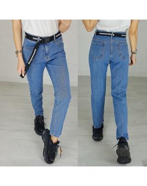3596 New jeans мом синий весенний коттоновый (25-30, 6 ед.)