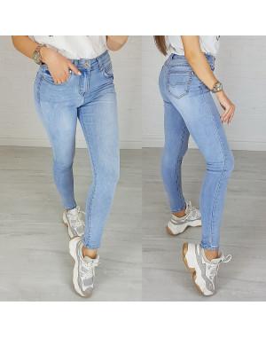 3666 New jeans джинсы женские зауженные голубые весенние стрейчевые (25-30, 6 ед.)