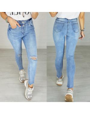 3625 New jeans джинсы женские зауженные голубые весенние стрейчевые (25-30, 6 ед.)