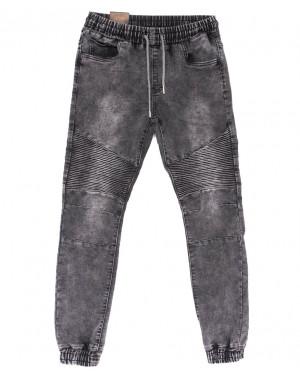 19303-50 Viman джинсы мужские на резинке серые весенние стрейчевые (30-38, 5 ед.)