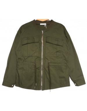 19199 Saint Wish куртка джинсовая женская хаки весенняя коттоновая (S-2XL, 5 ед.)