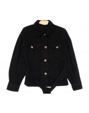 9067-1 Saint Wish куртка джинсовая женская черная весенняя коттоновая (ХS-XL, 5 ед.)